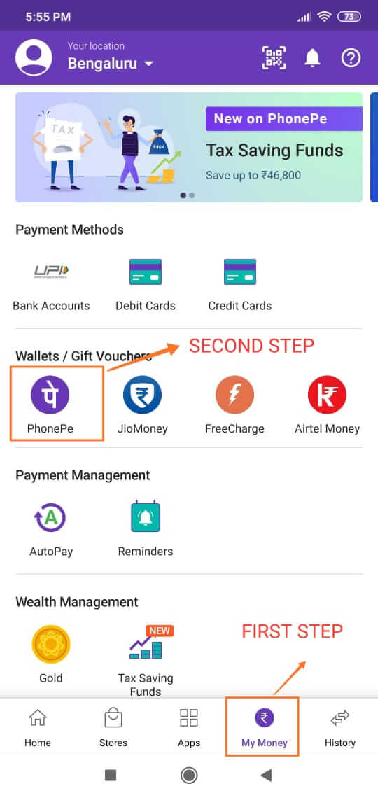 How To Add Money To PhonePe Wallet