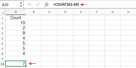 Count Function Example
