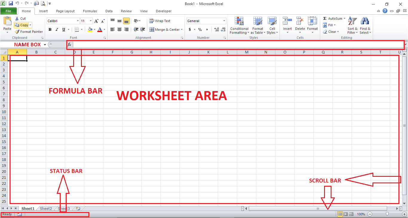 Excel Work Area